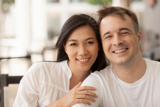 asian girl with white man